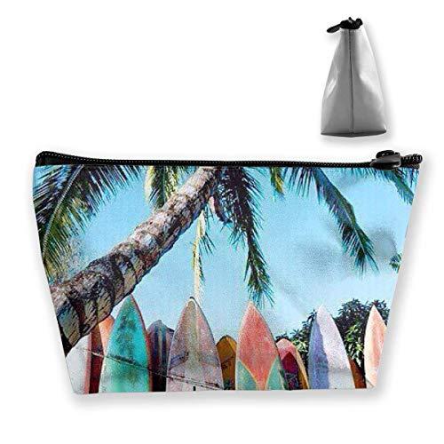 Pizeok Bolsas de cosméticos trapezoidales Bolsa de Aseo de Maquillaje Tabla de Surf Bolsa de Almacenamiento de Viaje para la Playa Monedero para teléfono