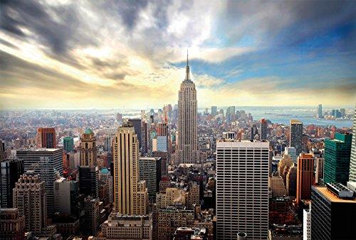 Fotobehang NYC 4x2,70m panorama wandafbeelding + decoratie XXL kwaliteit HD Scenolia