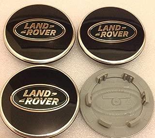 4 X Land Rover 63 MM Noir /& Vert Roue Alliage Centre Caps Discovery Freelander
