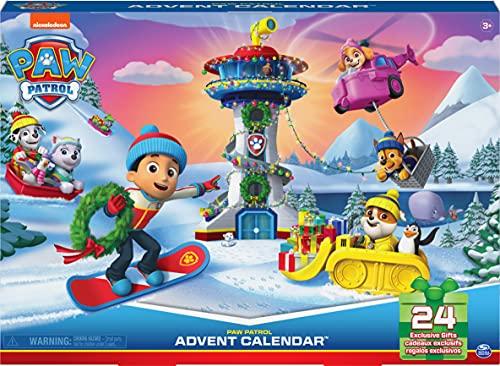 LA PAT' PATROUILLE - CALENDRIER DE L'AVENT PAT' PATROUILLE - Calendrier de L'Avent pour Noël Avec 24 Surprises, Figurines et Accessoires Exclusifs - 6061678 - Paw Patrol - Jouet Enfant 3 Ans et +