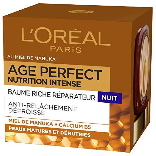 L'Oréal Paris - Age Perfect - Baume Riche Réparateur Nuit - Pour Peaux Matures Dénutries - Nutrition Intense - 50 ml