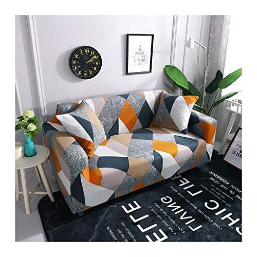 WUFANGFF Slipcover Motivo Geometrico colorato Forza Elastica Divano Poliestere Fodera Divano Copridivano Sofa Furniture Protector, 2seat