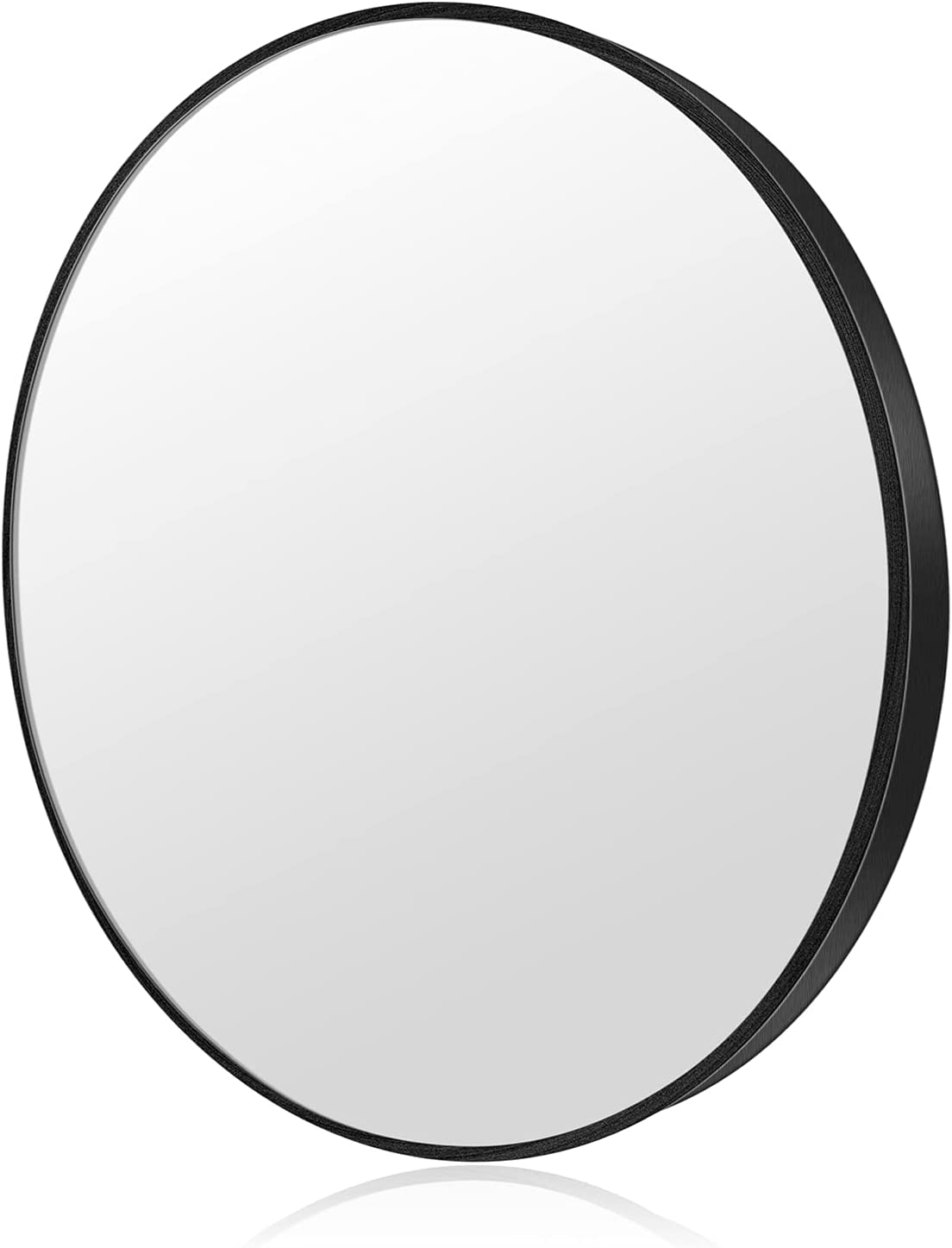 Black Circle Wall Mirror 28 Inch Round Wall Mirror - Brushed Metal Frame Round Wall Mirror for Entry, Dining,Living Rooms ,Bathroom ,Wall Decor Vanity Mirror