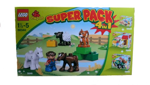 LEGO Duplo Super Pack Bauernhof Inhalt: Set 5646 + 5643 + 5644 + 5645