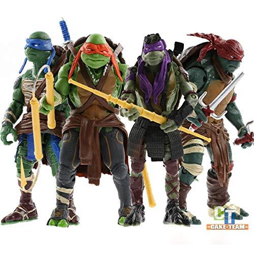 VITADAN Turtles 4 PCS Set New - Mutant Ninja Action Figure - TMNT Action Figures - Turtles Toy Set - Ninja Turtles Action Figures Mutant Teenage Set