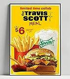 Travis Scott McDonalds Limited Poster Artwork - Professional Wall Art Merchandise (More (8x10)