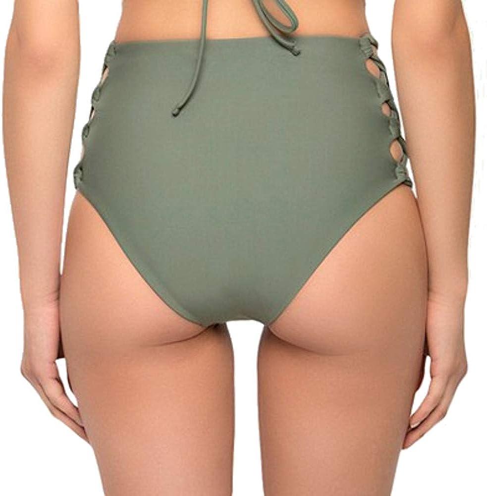 Tori Praver Seafoam Women/'s Tropical Extra Cheeky Bikini Bottom Sterling Blue