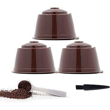 YISER Pack Cápsulas Filtros de Café Recargable Color Marron Reutilizable para Cafetera Dolce Gusto (PACK MARRON, 3): Amazon.es: Hogar