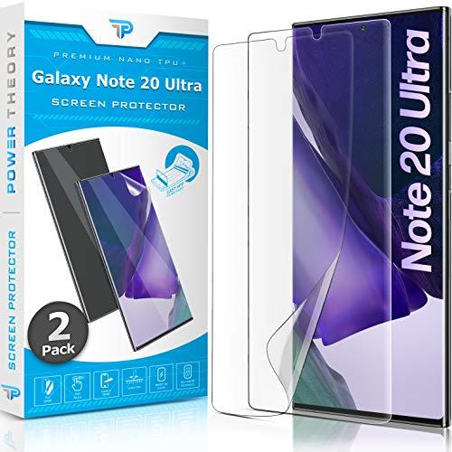 Power Theory Schutzfolie für Samsung Galaxy Note 20 ULTRA [2 Stück] - [KEIN GLAS] 3D Nano-Tech Panzerglasfolie Panzerglas Folie 100% Fingerabdrucksensor Einfache Installation Displayschutz Panzerfolie