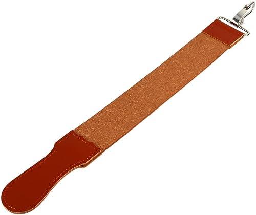 Leather Razor Strop, Genuine Leather Shaving Sharpener Sharpening Belt Paddle Strop Double Sided for Razor Folding Kn...