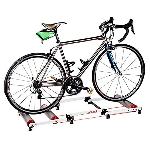 NAINAIWANG Rodillo de Rulos para Bicicleta Soporte con Rodillo para Bicicleta Entrenador Ciclismo para Interiores Plataforma Ejercicio para Montar en casa Gimnasio Fitness Riding aleación
