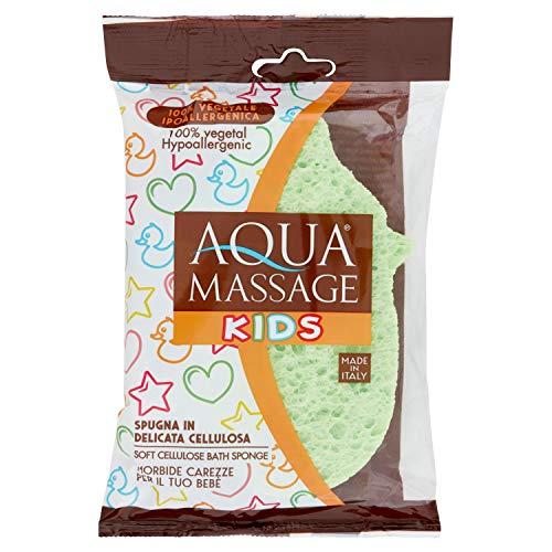 Arix 624 Aqua Massage - Éponge pour enfants en pure cellulose, modèles et couleurs variés