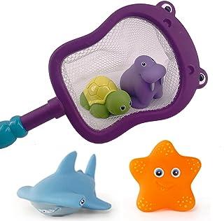 YHomU Kids Toddlers Boys Girls Bathroom Shower Children Pool Bathtub Toy Set Decorative Interactive Cute Color Changing Sm...