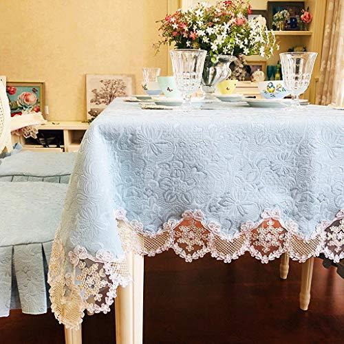 Nappe En Dentelle,Européenne Rectangulaire Salon Table Basse Table À Manger Anti-échaudage Nappe Carrée Lavable En Machine (Couleur : A, taille : 120 * 170cm)