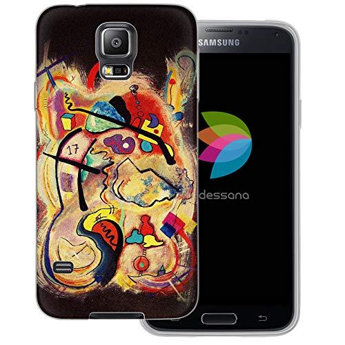 dessana Abstracte kunst transparante beschermhoes mobiele telefoon case cover tas voor Samsung Galaxy S Note, Samsung Galaxy S5/Neo, Pop Art