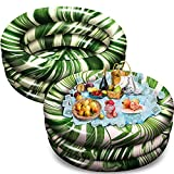 35' x 14.5' Inflatable Cooler, Beach Theme Party Decor, 2 Sets Party Supplies for Pool Party and Beach Party
