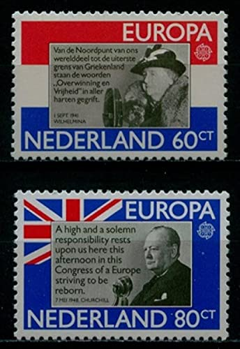FGNDGEQN Briefmarken Weißrussland Niederlande 1980 Europa Celebrity Holländische Königin Churchill Premierminister 2 Neue ausländische Stempel