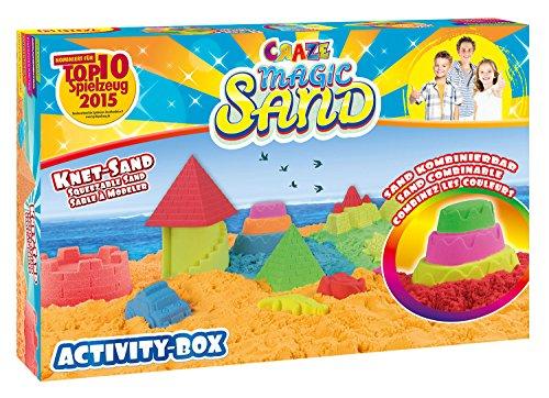 CRAZE Craze_52700 52700 - Magic Sand Activity-Box., ca. 700g Verschiedene Ausführungen. Sortiert