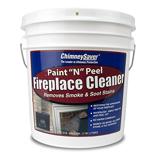 of cleaning fireplace stones ChimneySaver Paint N Peel Fireplace Cleaner, 1 Gallon