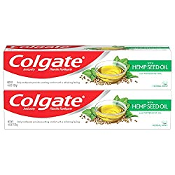 Colgate with Natural Hemp Seed Oil Gel Toothpaste with Anticavity Fluoride, Herbal Mint - 4.6 ounce