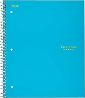 "Five Star Spiral Notebook, 1 Subject, Graph Ruled Paper, 100 Sheets, 11"" x 8-1/2"", Teal (06190AA4)"