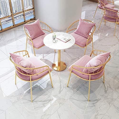 YLMF Marmor-Konferenztisch, runde Marmor-Tischplatte und Glatte Kanten, einfach zu montieren, für Restaurant, Café, Höhe 75 cm (29,5 in)