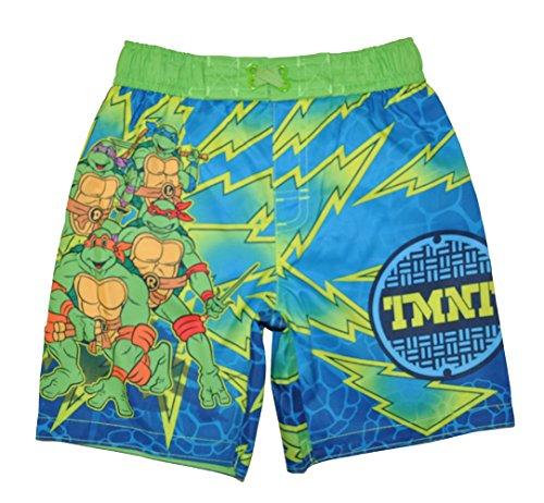 Teenage Mutant Ninja Turtles Little Boys Toddler Character Print Swim Short, Green/Blue 2T