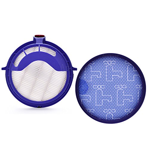 Anewise Filter Kits for Dyson DC25 Vacuum Dyson Ball Filter Includes 1pcs 919171-02 Washable Pre-Motor Filter & 1pcs 916188-05 Post Motor HEPA Filter, Fits DC-25 Models