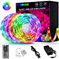 65.6ft Led Strip Lights, Tenmiro Ultra-Long RGB LED Lights Strip 5050 LED Tape Lights Flexible Color Changing LED Lights with 44 Keys IR Remote for Bedroom, Kitchen, DIY Home Decoration(4X16.4ft)