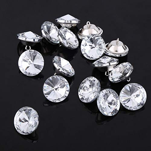 30 Pcs Crystal Upholstery Buttons