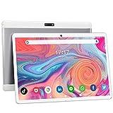 Tablet 10 Pulgadas, Tablet Móvil 3G de Cuatro Núcleos Android 9.0 con Tarjeta SIM Dual, WiFi, Bluetooth, Expansión de ROM de 32GB / 128GB, Pantalla Táctil HD, Cámara Dual de 5MP + 2MP, GPS 【Blanco】