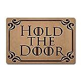ZQH WelcomeDoor Mats Hold The Door Doormat Game of Thrones Door Rugs Monogram Funny Door Mat (23.6 X 15.7 in) Non-Woven Fabric Top with a Anti-Slip Rubber Back Door Rugs Hello Doormat