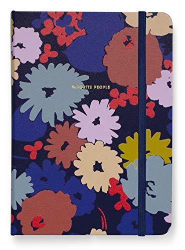 Kate Spade New York Address Book with A-Z Tabs, Navy Floral Leatherette Telephone Book, Includes Birthday/Anniversary Calendar and 146 Contact Pages, Swing Flora