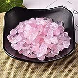 Piedra ornamental 50 g / 100 g Cristal natural Espécimen de grava Rose Cuarzo Amatista Decoración para el hogar Colorido para acuario Curación Energía Energía Minalería ( Color : Pink , Size : 100g )