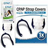 RespLabs CPAP Strap Covers, for DreamWear CPAP Masks, Over The Head - Reusable Soft Fleece CPAP Headgear Strap Pads, Fabric Wraps - Includes 2 CPAP Travel Wipes and CPAP Comfort Hacks E-Book.