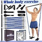 INNOCEDAR Home Gym Bar Kit with Resistance Bands,Full Body Workout,60-180LBS Adjustable Pilates...