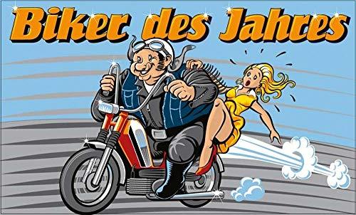 Fahne Flagge Biker des Jahres Motorrad Harley 90x150 cm Hissfahne mit Ösen Hißflagge Fahnen