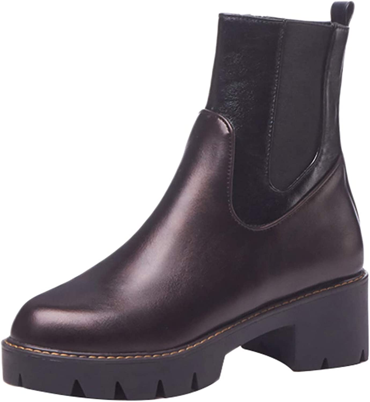 Jushee Womens Juhabit 5 cm mid-Heel Ankle Zipper Patent-Leather Boots