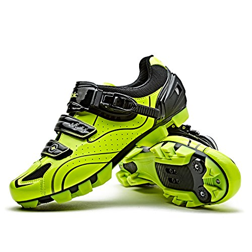 Santic Zapatillas Ciclismo MTB Zapatillas Bicicleta Montaña Hombre Zapatos Ciclismo Calzado Bicicleta Montaña Verde EU 43