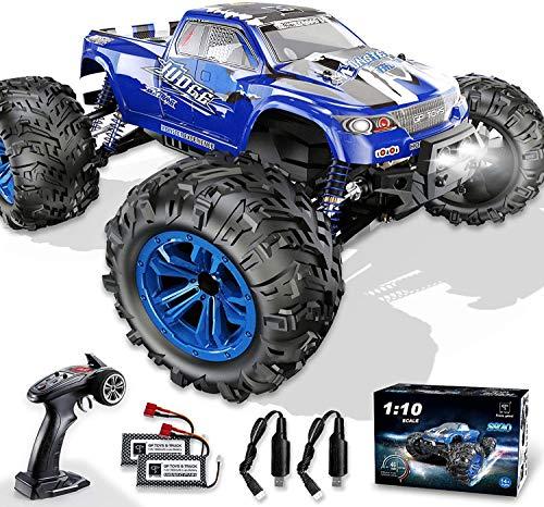GP Toys Ferngesteuertes Auto 1:10 4WD 46 km/h Zwei Motor 2 Akku LED 2,4 GHz 30 Minuten Spielzeit Wasserdicht RC Auto Fahrzeug Geschenk für Kinder ab 8 Jahre und Erwachsene