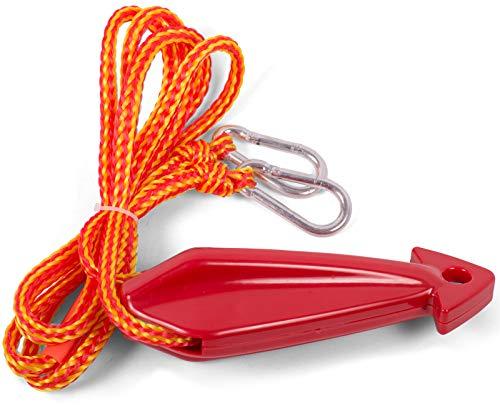 wellenshop Wasserskileine 2,50 m mit Rolle und Schwimmer Wasserski Fun Tube Leine Seil Wassersport Banane Bananenboot Wasserreifen Boot Schleppleine Sleppseil