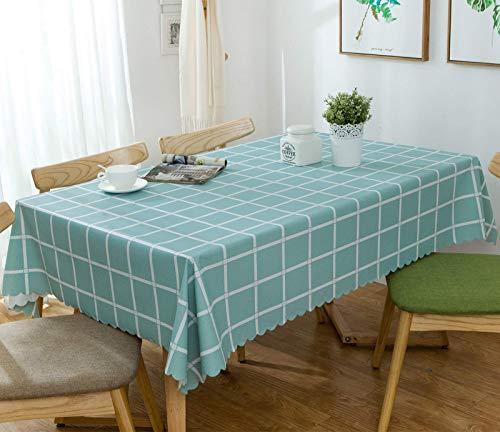 BKPH Mantel Simple y Elegante nórdicoMantel de PVC Impermeable y a Prueba de Aceite Mantel Mesa Rectangular,para el hogar Mesa de Comedor y Mesa de Centro mantel-E-70x70cm