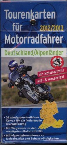 Tourenkarten für Motorradfahrer Deutschland / Alpenländer 2012 / 2013
