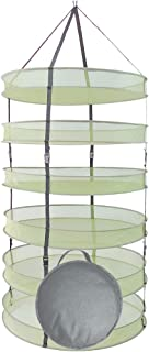 HORTIPOTS' Collapsible Herb Drying Rack, 2.5 ft Hanging Dry Net Rack for Hydroponic Herb Pot Vegetable Fruit Flower Buds or Clothes Laundry