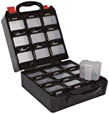 Velleman OBB1 Caja de Herramientas con 18 Cajones Extraíbles, negro