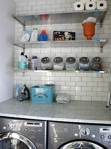 "12"" X 36"" Stainless Steel Wall Shelf | NSF Certified | Appliance & Equipment Metal Shelving | Kitchen, Restaurant, Garage, Laundry, Utility Room Photo #7"