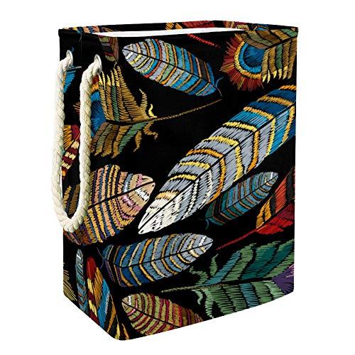Plumes colorées belles Boîte De Rangement Rapide De Jouet Extérieur De Paniers De Stockage De Jouet,Organisateur De Jouet De Pièce D'Enfants 49x30x40.5 cm