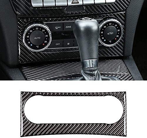 DuLing DecoracióN Interior del Coche, Verdadera Fibra de Carbono Interior Acondicionador de Aire Interruptor del Panel de Etiquetas de Marco, for el Benz Clase C W204 2011-2012 Accesorios