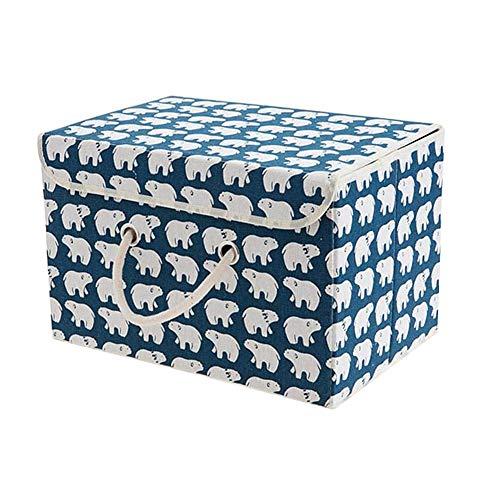 xiamenchangketongmaoyi Cajas de almacenaje Decorativas Carton Cajas organizadoras Juguetes Cajas de Almacenamiento para Ropa Caja de almacenaje Bear,s