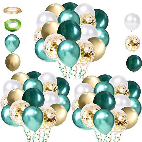 不适用 60 Stück Grüne Luftballons Partyballons, Latex Helium Luftballons Grün Weiß Gold Ballons for Hochzeit Babyparty Geburtstagsdeko Safari Kindergeburtstag Dschungel Geburtstag Party Deko